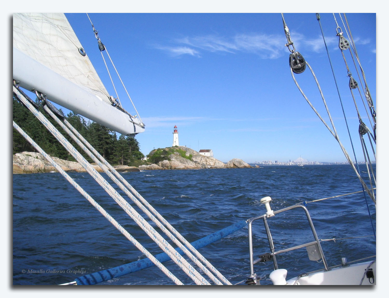 sailing off Point Atkinson, West Vancouver